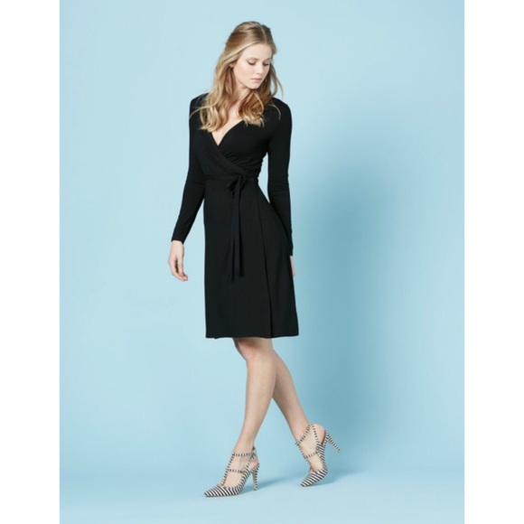 55fa1f6dd97 Boden Dresses   Skirts - Boden Black Wrap Dress Stretch Knit